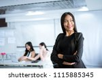 asian manager girl | Shutterstock . vector #1115885345