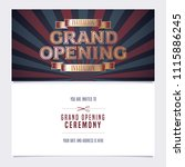 grand opening banner with... | Shutterstock .eps vector #1115886245