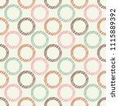 polka dot seamless pattern.... | Shutterstock .eps vector #1115889392