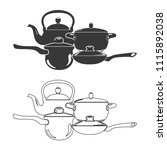 kitchen stuff vector  icon. | Shutterstock .eps vector #1115892038