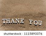 thank you words written on the... | Shutterstock . vector #1115893376