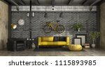 modern living room in a loft... | Shutterstock . vector #1115893985