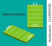 green soccer field collection... | Shutterstock .eps vector #1115895458