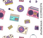 seamless pattern with retro... | Shutterstock .eps vector #1115902376