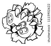 monster or animal gamer hand or ... | Shutterstock . vector #1115902622