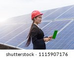 a female business man works in... | Shutterstock . vector #1115907176