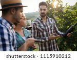 people sampling and tasting... | Shutterstock . vector #1115910212