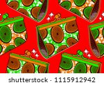 textile fashion african print... | Shutterstock .eps vector #1115912942