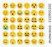 cartoon emoji collection. set... | Shutterstock .eps vector #1115921102