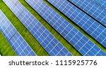 solar panels in aerial view | Shutterstock . vector #1115925776