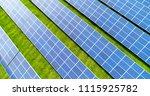 solar panels in aerial view | Shutterstock . vector #1115925782