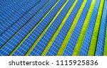 solar panels in aerial view | Shutterstock . vector #1115925836