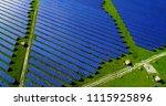 solar panels in aerial view | Shutterstock . vector #1115925896