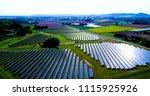 solar panels in aerial view | Shutterstock . vector #1115925926
