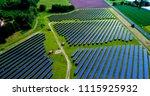 solar panels in aerial view | Shutterstock . vector #1115925932