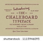 original handmade alphabet.... | Shutterstock .eps vector #1115946095