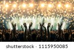 shot inside a concert hall with ... | Shutterstock . vector #1115950085