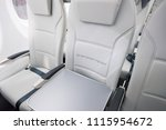 interior of the new airbaltic... | Shutterstock . vector #1115954672