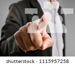 hand touch a virtual icon of... | Shutterstock . vector #1115957258