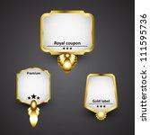 golden labels collection | Shutterstock .eps vector #111595736