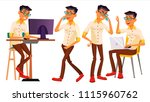 office worker vector. thai ...