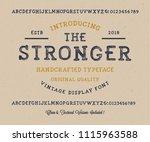 original handmade alphabet.... | Shutterstock .eps vector #1115963588