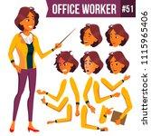 office worker vector. woman.... | Shutterstock .eps vector #1115965406