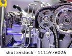 car engine close up | Shutterstock . vector #1115976026