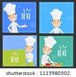 cartoon chef templates... | Shutterstock .eps vector #1115980502