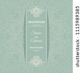 save the date invitation card... | Shutterstock .eps vector #1115989385