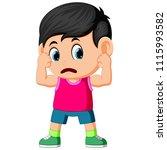 vector illustration of strong... | Shutterstock .eps vector #1115993582