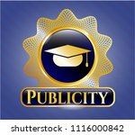shiny badge with graduation... | Shutterstock .eps vector #1116000842