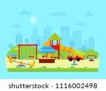 vector illustration of urban... | Shutterstock .eps vector #1116002498