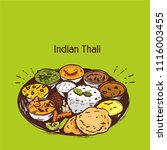 indian cuisine food and... | Shutterstock .eps vector #1116003455