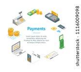 payment methods banner card... | Shutterstock .eps vector #1116009098