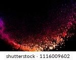 multicolor powder explosion on... | Shutterstock . vector #1116009602