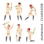 cricket characters. set of... | Shutterstock .eps vector #1116014258