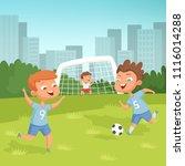 active children playing... | Shutterstock .eps vector #1116014288