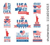 banners of america independence ...   Shutterstock .eps vector #1116014315