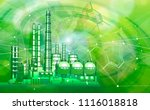 modern chemical manufacturing... | Shutterstock .eps vector #1116018818