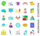 debate icons set. cartoon set... | Shutterstock . vector #1116021566