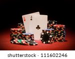 poker chips and playing cards...   Shutterstock . vector #111602246