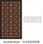 decorative panel. stencil...   Shutterstock .eps vector #1116025628