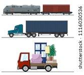 railway transportation and...   Shutterstock .eps vector #1116030536