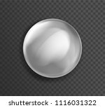 blank white glossy badge or... | Shutterstock .eps vector #1116031322