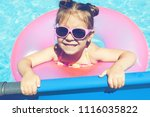 cute and funny little girl in... | Shutterstock . vector #1116035822