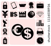 set of 17 business high quality ... | Shutterstock .eps vector #1116038936