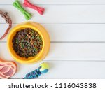 top view of pet care concept... | Shutterstock . vector #1116043838