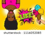 summer ice cream sale like.... | Shutterstock .eps vector #1116052085