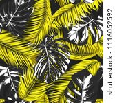tropic seamless pattern with... | Shutterstock .eps vector #1116052592
